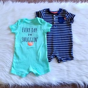 Carter's Set of Rompers Size 12 Months